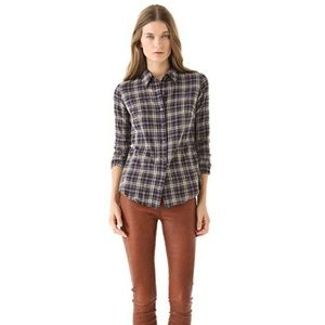 Standard James Perse Tomboy Plaid Button Up